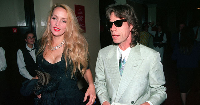 Mick Jagger with Jerry Hall.