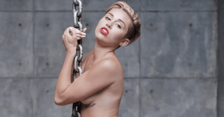 Miley Cyrus strips naked for her music video