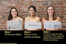 Pennsylvania Politicians get naked to raise awareness of Pa.'s ballot secrecy envelopes